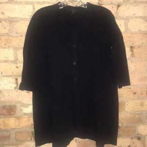 COS Tops - COS black short sleeve jacket or cardigan.